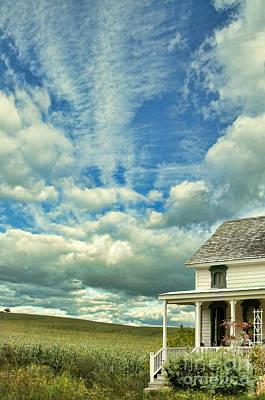 Cornfield Photograph - Farmhouse By Cornfield by Jill Battaglia
