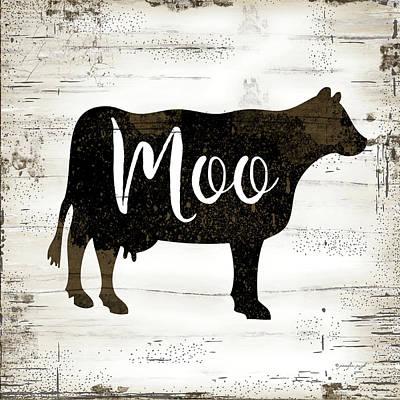 Moo Moo Painting - Farmhouse Cow by Jennifer Pugh