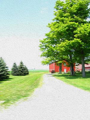 Photograph - Farmhouse - Digital Painting Effect by Rhonda Barrett