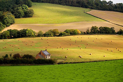 Photograph - Farmhouse In English Field by Sarah Broadmeadow-Thomas