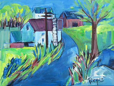 Farmhouse In Spring Again Art Print