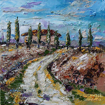 Italian Landscape Painting - Farmhouse In Tuscay Italy by Ginette Callaway