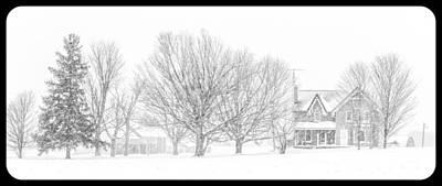 Farmhouse In Winter Original