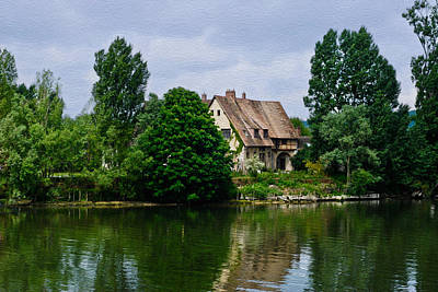 Photograph - Farmhouse On The Seine by Gene Norris