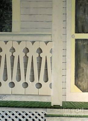 Farmhouse Porch Right Side Art Print
