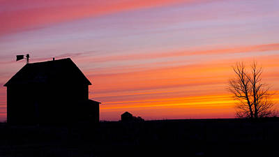 Photograph - Farmhouse Silhouette by Gerald Murray Photography