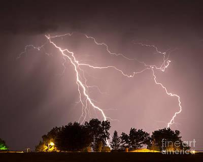 Photograph - Farmhouse Storm by Shawn Naranjo