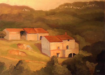 Spanish Villa Painting - Farmhouse by Sue  Darius