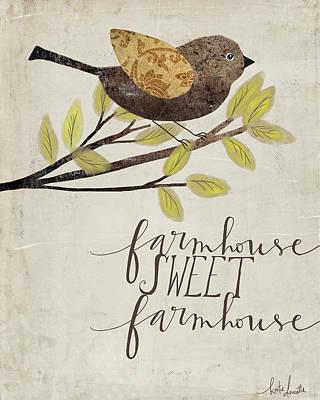 Painting - Farmhouse Sweet Farmhouse by Katie Doucette
