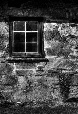Photograph - Farmhouse Window In Black And White by Greg and Chrystal Mimbs