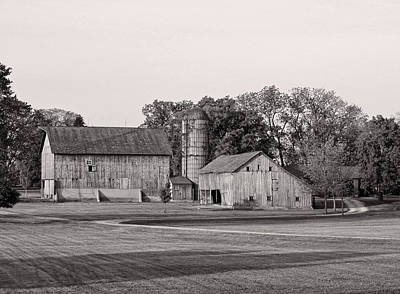 Photograph - Farmhouse...black And White by Tom Druin