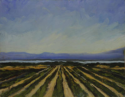Desert Scape Painting - Farming By The Sea by Maria Hunt