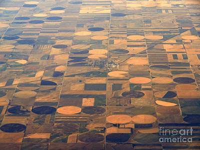 Circle In The Square Photograph - Farming In The Sky 2 by Anthony Wilkening