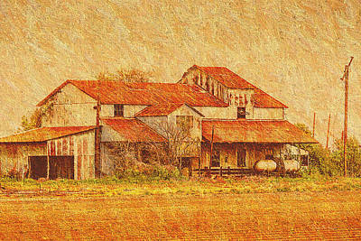 Photograph - Farm - Barn - Farming The Delta by Barry Jones