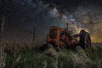 Light Paint Photograph - Farming The Rift by Aaron J Groen
