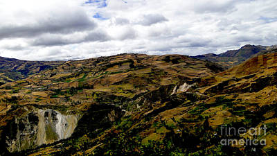 Patchwork Quilts Photograph - Farming The Summits Of The Andes by Al Bourassa