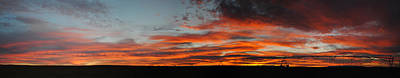 Photograph - Farmington Nm Sunset Pan 3 by Jeff Brunton