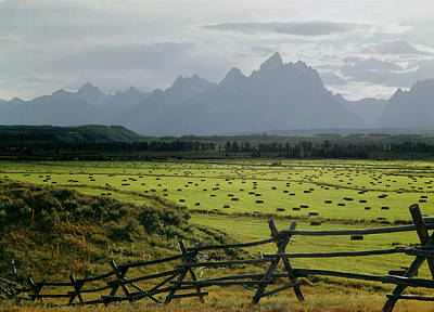 Photograph - 409254-farmland And The Tetons, Wy by Ed  Cooper Photography