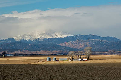 Farmland Below The Rocky Mountains Art Print by Jim West