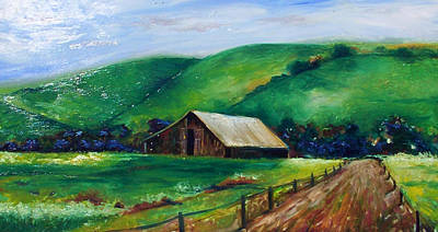 Art Print featuring the painting Farmland by Emery Franklin