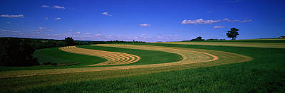 Prairie Landscape Photograph - Farmland Il Usa by Panoramic Images
