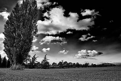 Black And White Photograph - Farmland In Mount Vernon by David Patterson