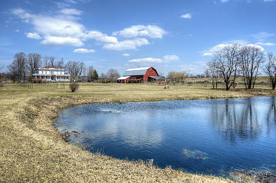 Pasture Photograph - Farmland Paradise by Donna Doherty