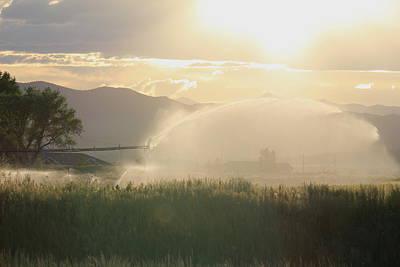 Photograph - Farmland Sunset by Trent Mallett
