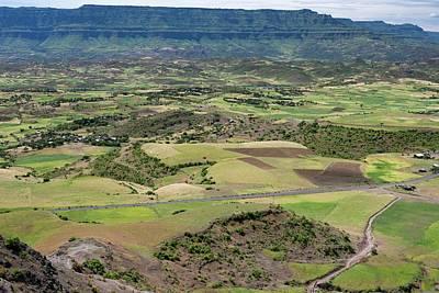 Topography Wall Art - Photograph - Farmlands Near Lalibela by Tony Camacho
