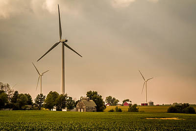 Photograph - Farms And Windmills by Ron Pate