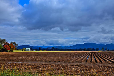Plowed Fields Photograph - Farms Of Mount Vernon Washington by David Patterson