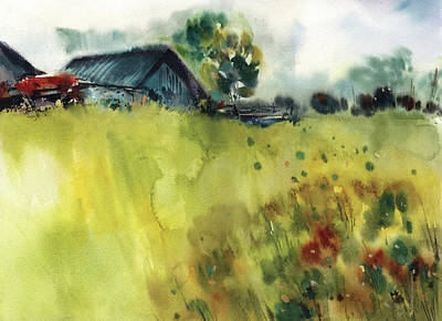Farmscape Art Print by Sophia Rodionov