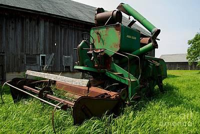 Barns Photograph - Farmstead Combine by Nikki Vig