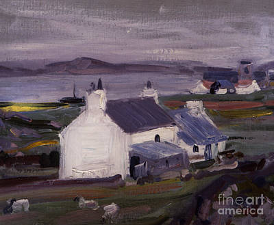 Cloudy Day Painting - Farmsteading by Francis Campbell Boileau Cadell