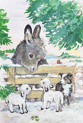 Farmyard Friends, 1996  Art Print by Diane Matthes