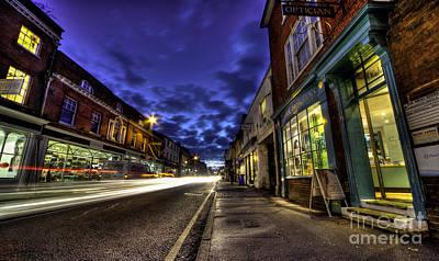 Farnham Photograph - Farnham West St By Night by Rob Hawkins