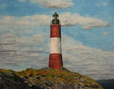 Art Print featuring the painting Faro Del Fin Del Mundo by Stan Tenney