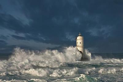 Lighthouse Photograph - Faro Di Mangiabarche(calasetta-sardegna) by Nicola Friargiu