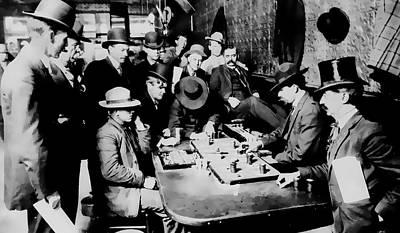 Faro Game Orient Saloon C. 1900 - Arizona Print by Daniel Hagerman
