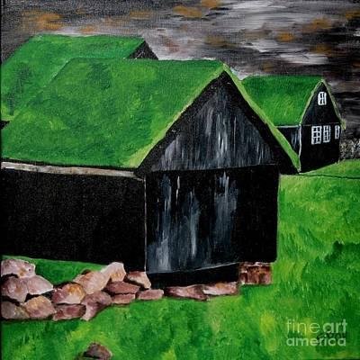 Faroe Houses Art Print
