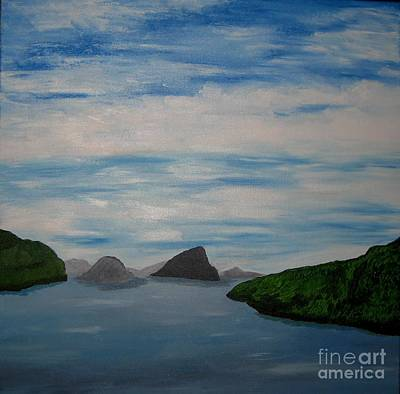 Art Print featuring the painting Faroy Islands by Susanne Baumann
