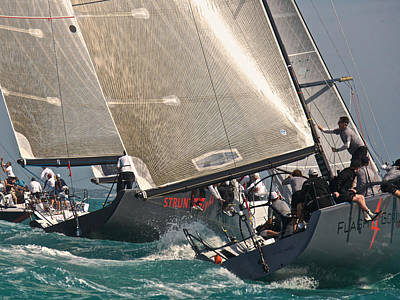 Photograph - Farr 40 Action by Steven Lapkin