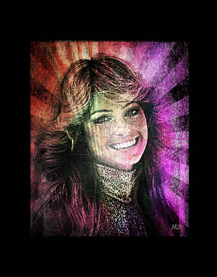 Digital Art - Farrah Fawcett by Absinthe Art By Michelle LeAnn Scott