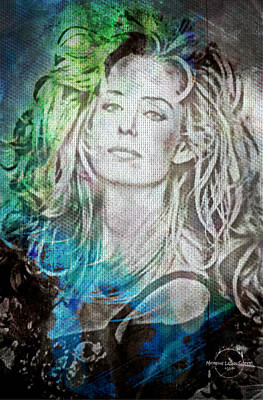 Digital Art - Farrah Fawcett - Beautiful Soul by Absinthe Art By Michelle LeAnn Scott