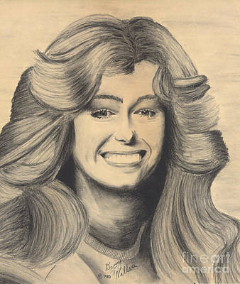 Drawing - Farrah Fawcett by D Wallace