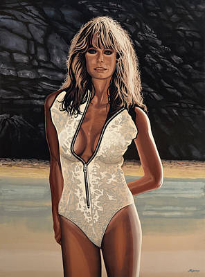 Farrah Fawcett Painting Print by Paul Meijering
