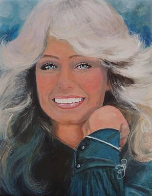 Painting - Farrah Fawcett by Shirl Theis