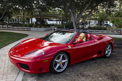 Shiney Photograph - Ferrari by Debra and Dave Vanderlaan