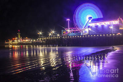 Photograph - Ferris Wheel Reflection  by Jerry Cowart