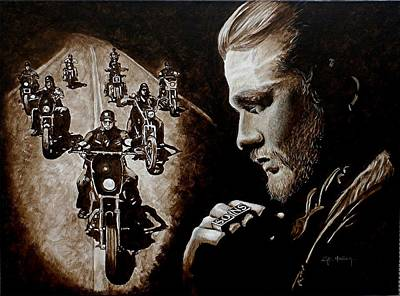 Sons Of Anarchy Painting - Farewell To The Outlaw by Al  Molina